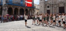 Team Lilleholdet from Vejstrup Efterskole, Denmark, perform Street Gymnastics in Cuba