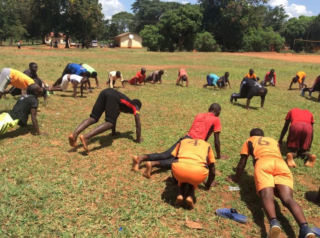 First workshop with Street Gymnastics Uganda, YMCA vocational school