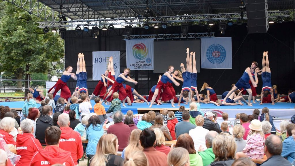 Sundeved Efterskole, World Gymnastrada Dornbirn, City Performance Hohenems,  Austria, Street Gymnastics